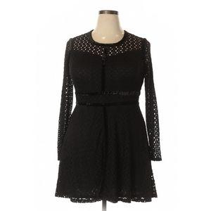 Xhilaration Black Lace Crochet Dress